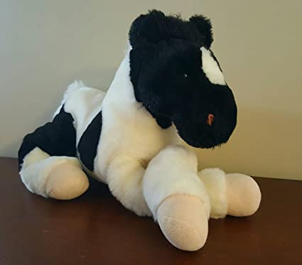 Amazon Com Animal Alley Toys R Us Horse Black White Plush Stuffed