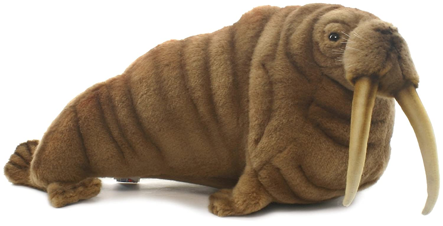 plush soft toy walrus by hansa 38cm 5327 amazon co uk toys u0026 games