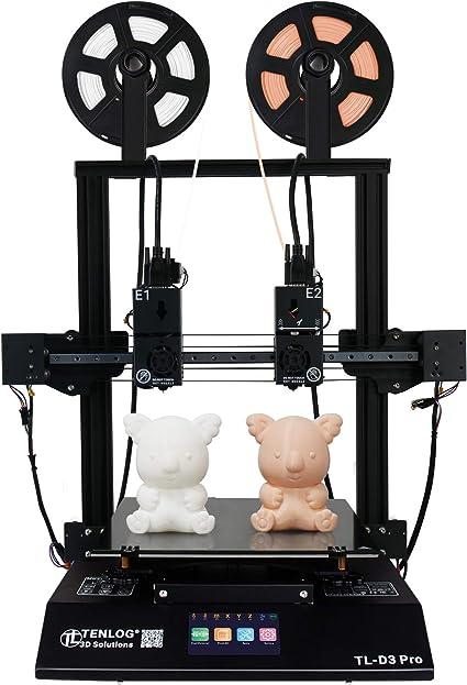 Imprimante 3D TENLOG TL-D3 Pro, imprimante 3D indépendante à Double  extrudeuse avec Cartes mères silencieuses, Lecteur TMC2208, lit en Verre  borosilicaté, Alimentation directe, 300 × 300 × 350 mm: Amazon.fr:  Informatique