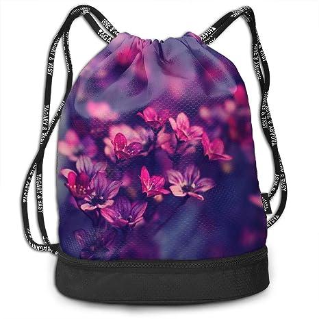Floral Drawstring Backpack Rucksack Shoulder Bags Training Gym Sack For Man And Women