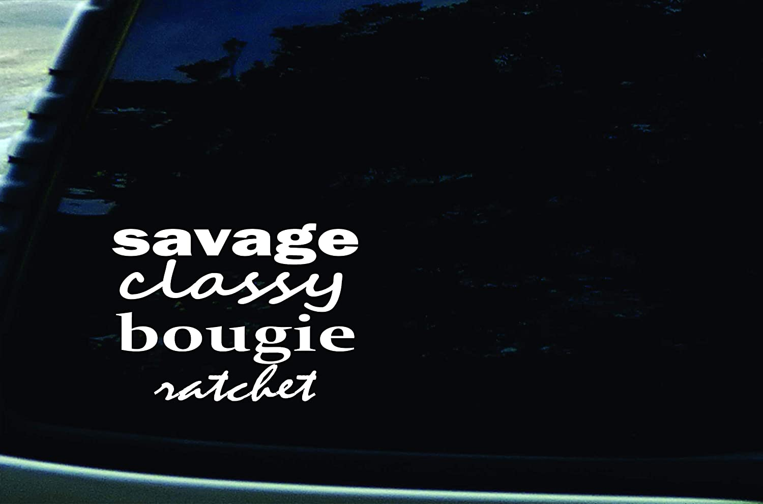 """Stonehouse Decals 6"""" X 4"""" Savage Classy Bougie Ratchet Funny Vinyl DIE Cut Decal for Your car, Truck, Window, Laptop, or Any Smooth Surface"""