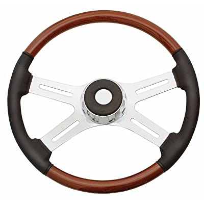 Woody's WP-SWF8901L Rosewood Chrome Truck Steering Wheel (Beautiful African Hardwood): Automotive