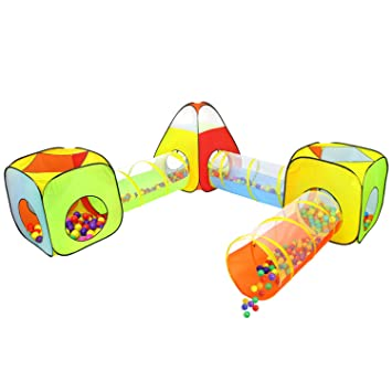 Yoobe 6pc Children Play Tent and Tunnel Indoor u0026 Outdoor Child Pop up Tent with  sc 1 st  Amazon.com : pop up tents and tunnels - memphite.com