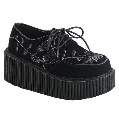 Demonia Creeper 219 Zapatillas Negro Precio barato falso Comprar barato Wiki Envío gratis Nueva llegada Descuento muchas clases de z6CA2