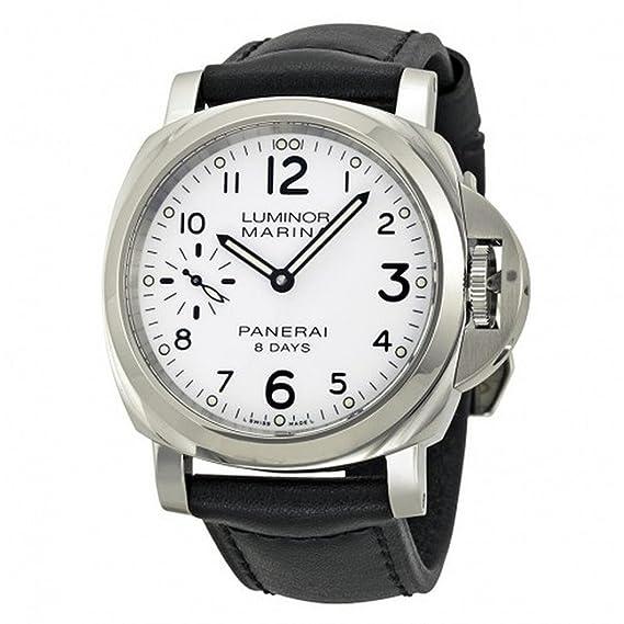 Panerai Luminor Hombre Reloj de pulsera 44 mm Pulsera Piel Negro Gehà ¤ Use Acero Inoxidable