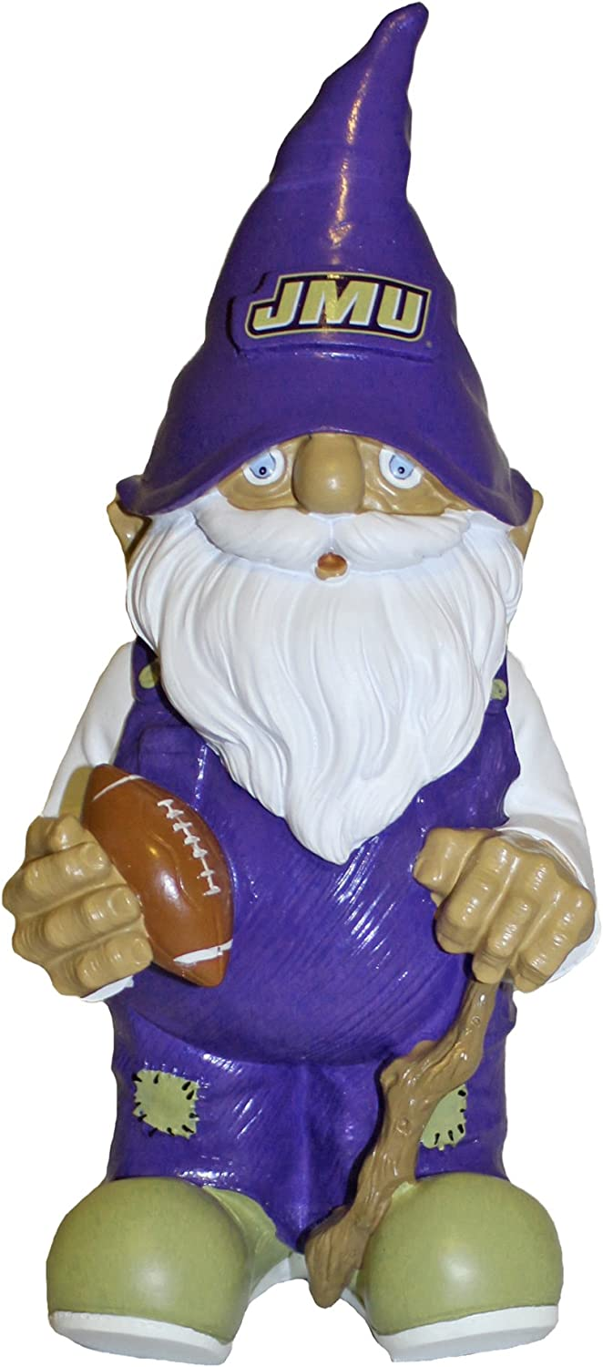Forever Collectibles James Madison JMU Dukes Garden Gnome, 11 inches Tall