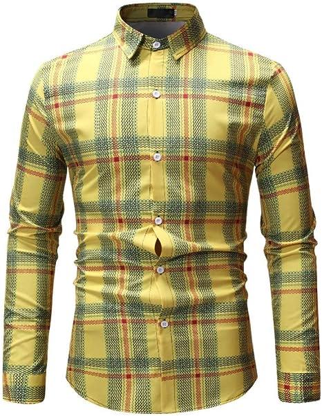 CHENS Camisa/Casual/Unisex/XXL Hombres Camisas A Cuadros Hombres Camisas Florales De Manga Larga Slim Fit Casual Hombre de Negocios Ropa Chemise Tallas Grandes: Amazon.es: Deportes y aire libre