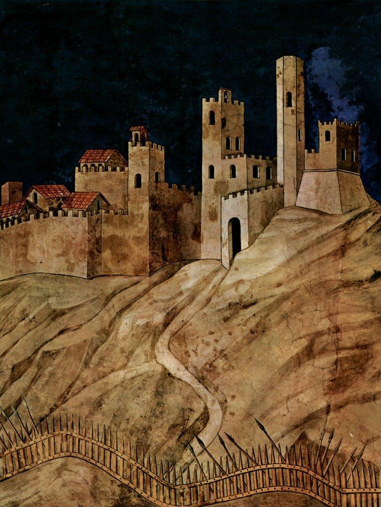 Lais Puzzle Simone Martini - der siegreiche Feldherr Guiddo Riccio da Fogliano, Fresko im Palazzo Pubblico 2000 Teile