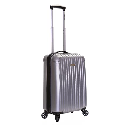 Pierre Cardin Orbis 55cm 4-ruedas maleta de cabina dura, Plata: Amazon.es: Equipaje