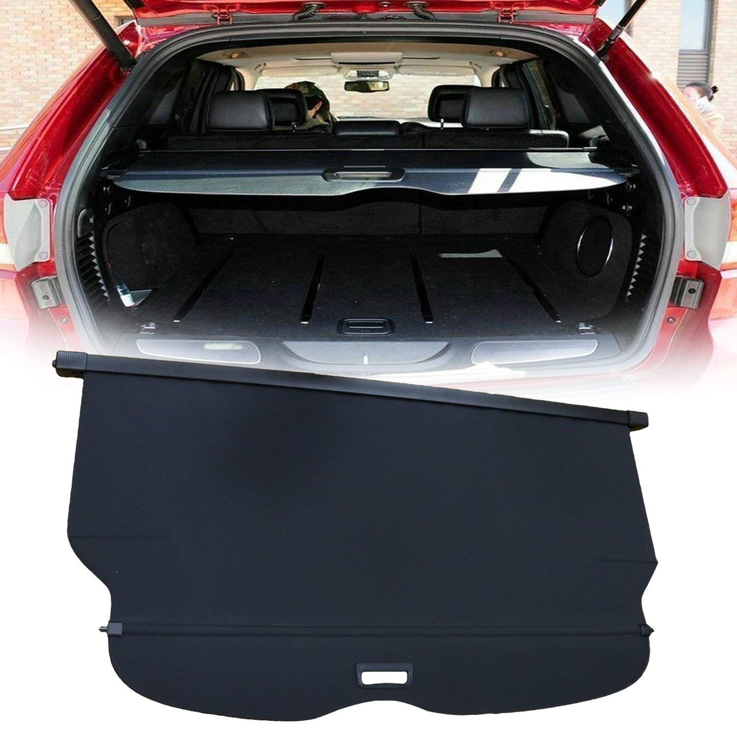 yoursme cargo cover retractable black luggage security shield rear trunk cover for 2011 2012. Black Bedroom Furniture Sets. Home Design Ideas