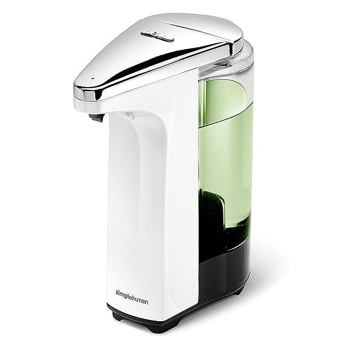 simplehuman ST1018 - Dosificador con sensor compacto, 237 ml, incluye muestra de jabón gratis, color blanco: Amazon.es: Hogar