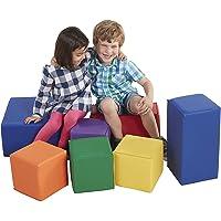 Baby Toddler Kids Large Soft Block Play Set Gentle Foam Building Blocks Active Playroom 7pcs