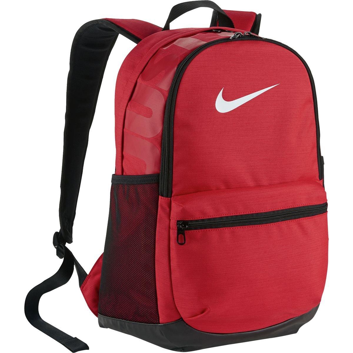 (ナイキ) Nike Brasilia Medium Backpackメンズ バックパック リュック University Red/Black/White [並行輸入品]   B07C5GH48D