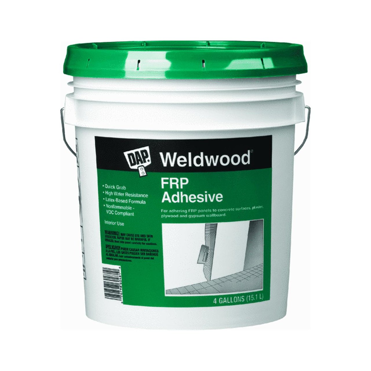 Dap 60481 FRP Latex Based Panel Adhesive 4 Gallon