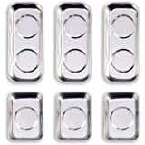 """WXTOOLS 6-Piece Magnetic Tray Set (3.6"""" x 2.4"""" / 5.9"""" x 2.5"""" Square), Magnet Tool Trays Parts Holder, Best Gift for Men…"""