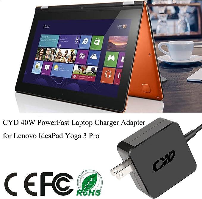 Amazon.com: CYD 45 W Cargador de portátil para Lenovo Yoga 3 ...