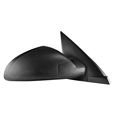 Passenger Side Textured Power Operated Non-Heated Side View Mirror for (2004,2005,2006,2007,2008) Chevrolet Malibu - GM1321287: Automotive