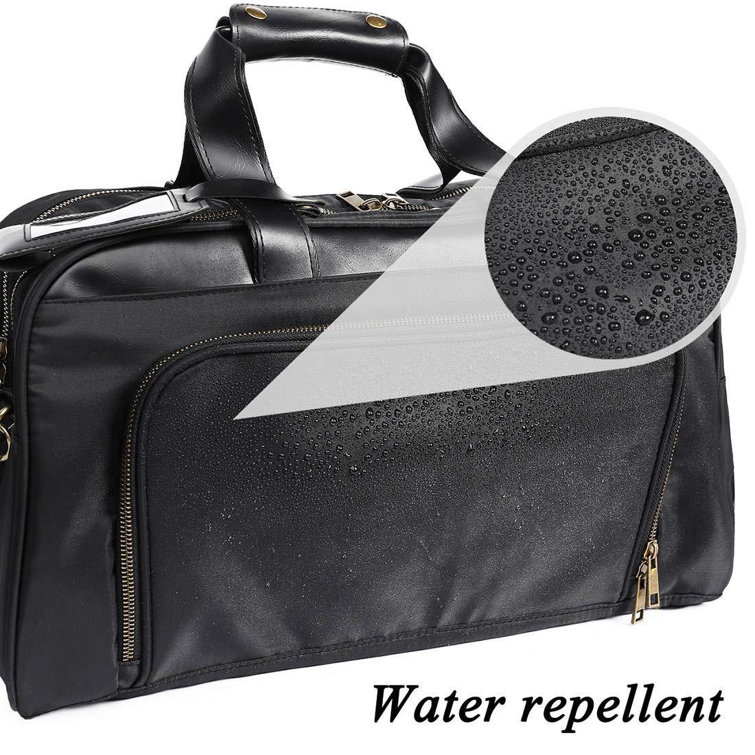 black Business Travel Briefcase Duffel Bags for Men Laptop Bag fits 15inches Laptop 22L