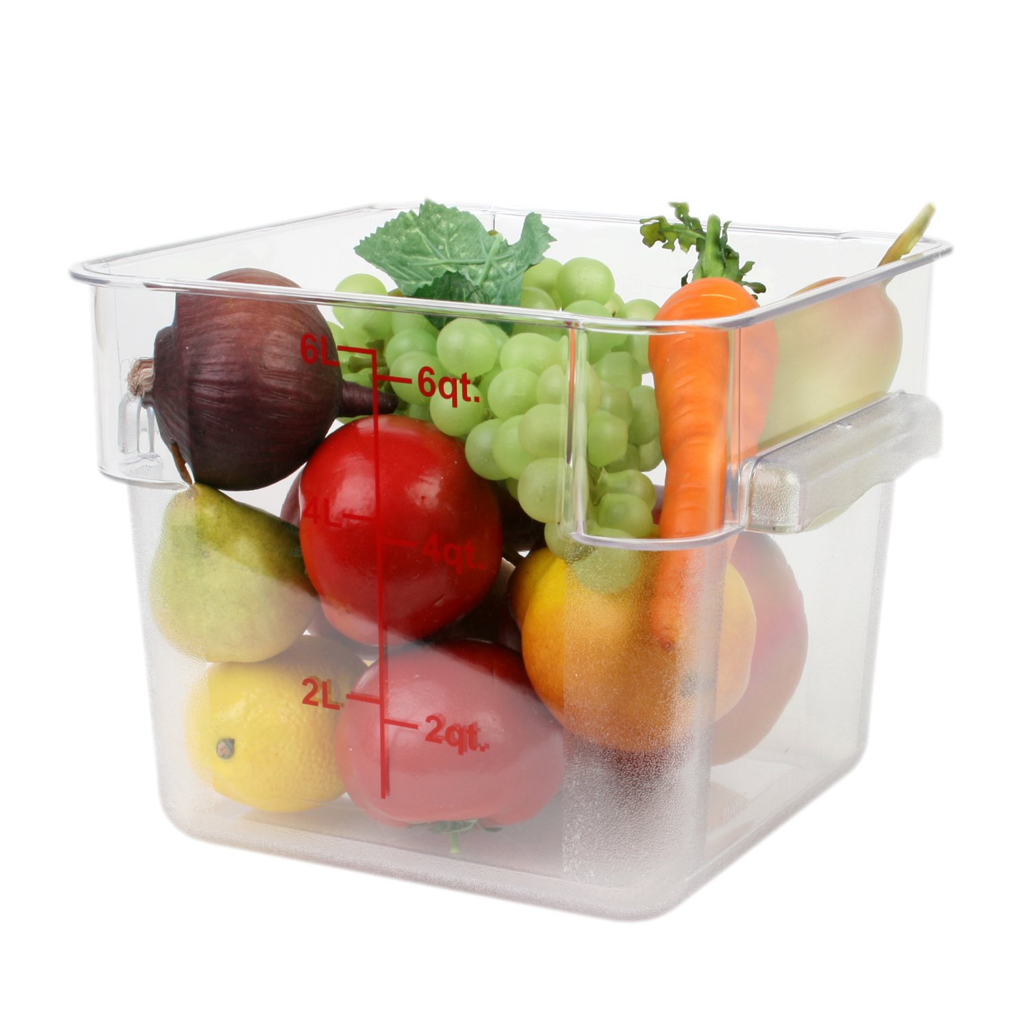 Excellante 6-Quart Polycarbonate Square Food Storage Containers, Clear by Excellant (Image #2)