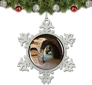 Umsufa USA America Fresno Forestiere Underground Gardens California Christmas Ornament Tree Decoration Crystal Metal Souvenir Gift
