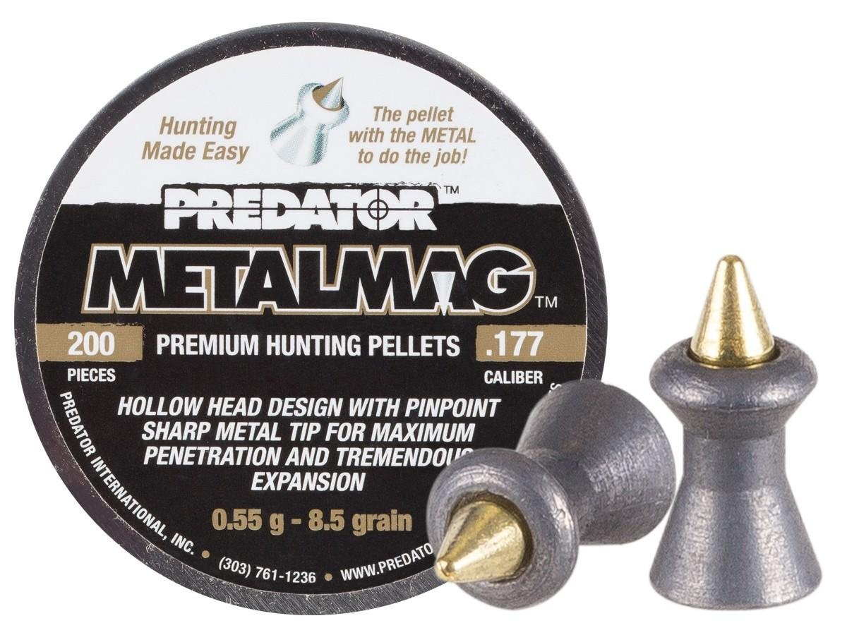 Predator Metalmag Pellets, .177 Cal, 8.5 Grains, Pointed, 200ct