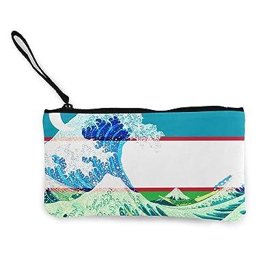Amazon.com: Kanagawa - Monedero de viaje con diseño de ...