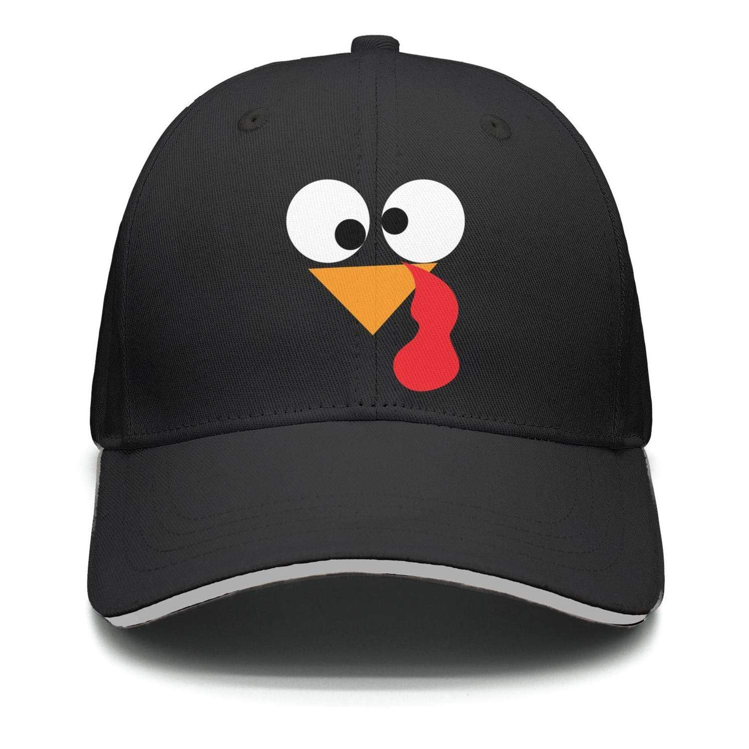 0307c1b650b Lskjohjds Men Women Happy Thanksgiving Day Turkey Face Casual Baseball Cap  Adjustable Sports Trucker hat at Amazon Men s Clothing store