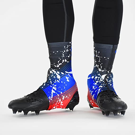 b1321f8a5 Amazon.com   Splatter Red Blue Spats Cleat Covers   Sports   Outdoors