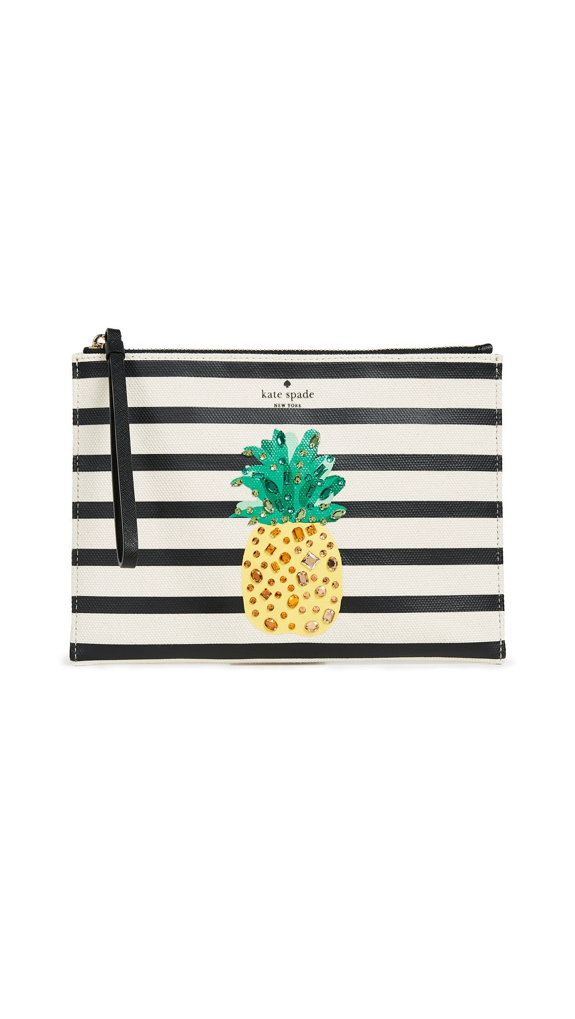 Kate Spade New York Women's By The Pool Pineapple Medium Bella Pouch, Multi, One Size