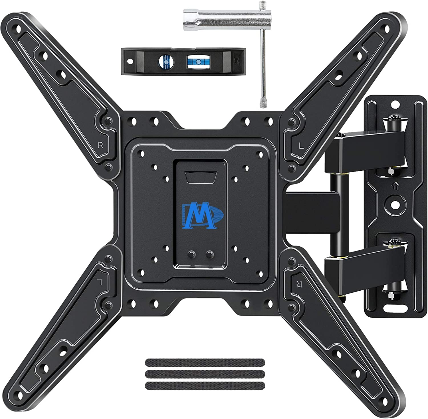 Mounting Dream Full Motion TV Wall Mount for Most 26-55 Inch TVs, Wall Mount for TV with Swivel Articulating Arms, Perfect Center Design TV Mounts Wall, up to VESA 400x400mm and 77 lbs. MD2413-MX: Electronics