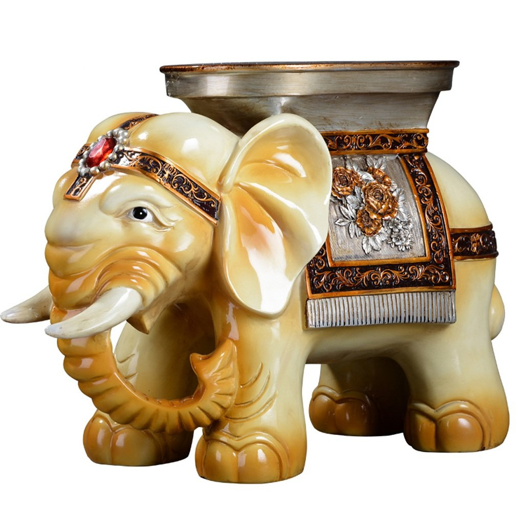 Lucky Elephant for Shoes Stool Creative Living Room Home Decorations Ornaments Moved to New Home Gifts Opened Home (Color : D) by None (Image #1)