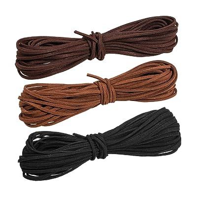 Whaline 3 Piezas 3 mm de Cordón de Ante Falso 3 Colores Cuerda de Cuero para Bricolaje Pulsera Abalorios Fabricación de Bisutería: Hogar