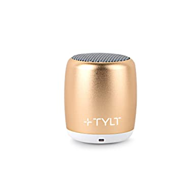 Tylt Mini Boom Bluetooth Speaker (Gold) 3 W Output On Bluetooth 4.2 & Up To 4 Hours Of Playback On One Charge From This Portable Wireless Speaker With Microphone, Includes Micro Usb Charging Cord by Tylt