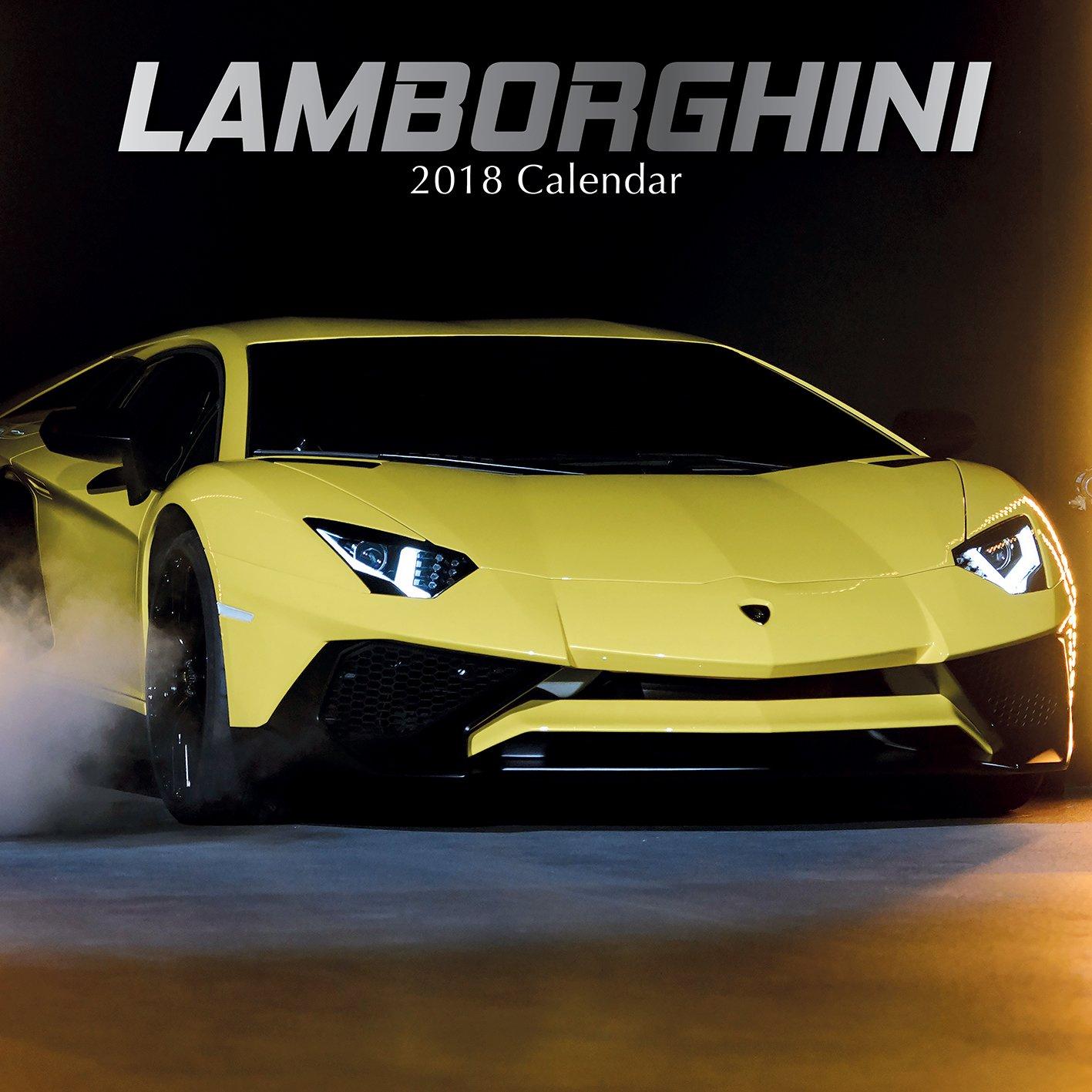 Amazon.com : 2018 Lamborghini Calendar - 12 x 12 Wall Calendar ...