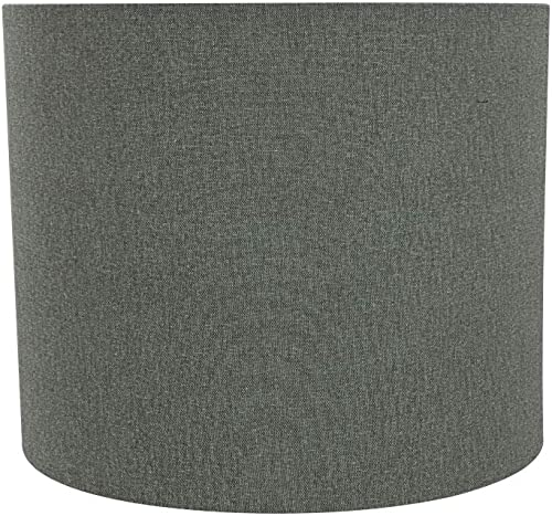 Aspen Creative 31100 Transitional Drum Cylinder Shaped Construction Grey, 12 Wide 12 x 12 x 10 Spider LAMP Shade