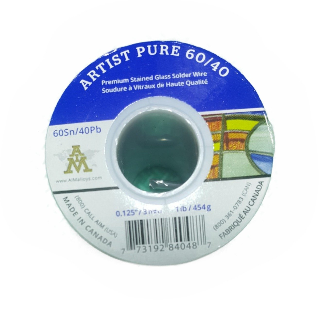 Artist Pure 60/40 Premium Stained Glass Solid Core Solder Wire, 1/8'' Diameter, 1 Pound Spool by Artist Pure (Image #1)