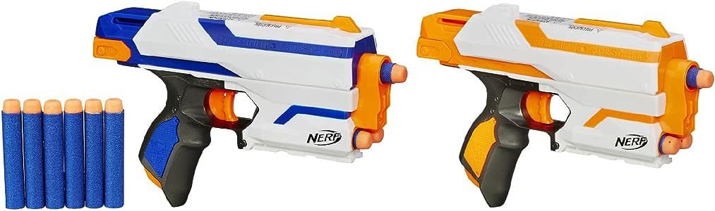 Nerf N-Strike Elite Sidestrike Blaster 2-Pack Nerf Guns with 12 Nerf Darts by Hasbro: Amazon.es: Juguetes y juegos