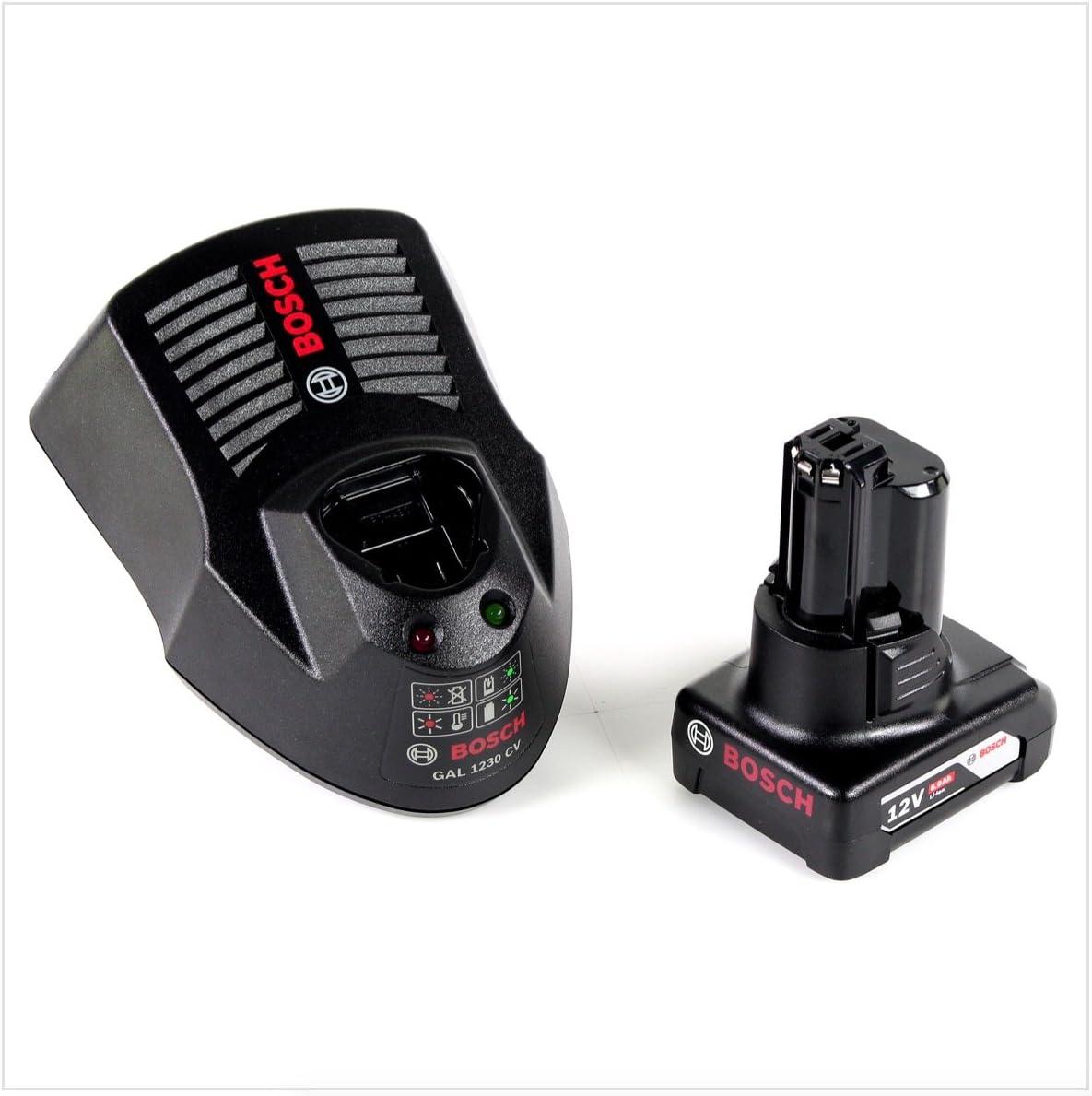 1x Batterie GBA 12 V 6,0 Ah Chargeur GAL 1230 CV bo/îtier L-Boxx Bosch GOP 12V-28 Professional D/écoupeur-ponceur sans fil Brushless avec Starlock