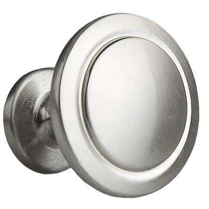 Satin Nickel Kitchen Cabinet Knobs 1 1 4 Inch Round Drawer Handles 25 Pack Of Kitchen Cabinet Hardware