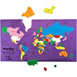 Imagimake Mapology: World - Educational Toy and Learning Aid for Boys and Girls-Map Puzzle-Jigsaw puzzle- Birthday Gift