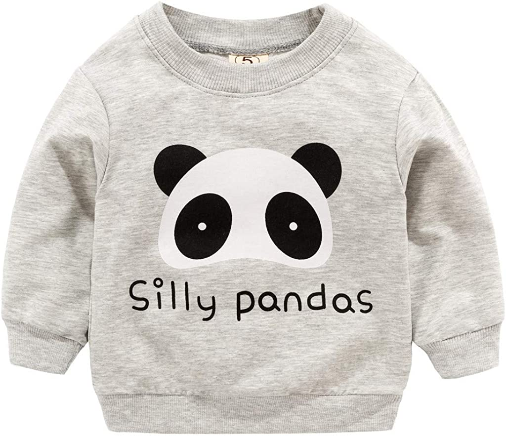 squarex   /® Toddler Kid Baby Girl Boy Clothes Long Sleeve Cartoon Printed T-Shirt Tops