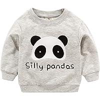 Mitlfuny Primavera Otoño Camisetas Ropa de Bebé Sudaderas de Manga Larga Niñas Niños Cuello Redondo Camisas Dinosaurio…