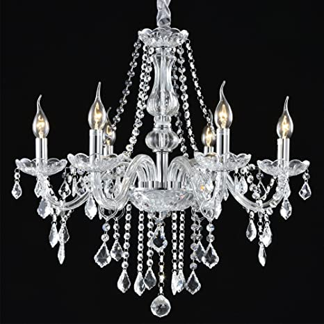 boshen crystal chandelier 6 lights fixture pendant ceiling lamp for