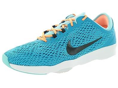 da43f05958d4 Nike Women s Zoom Fit Blue Lagoon Dark Grey Cp White Training Shoe 6