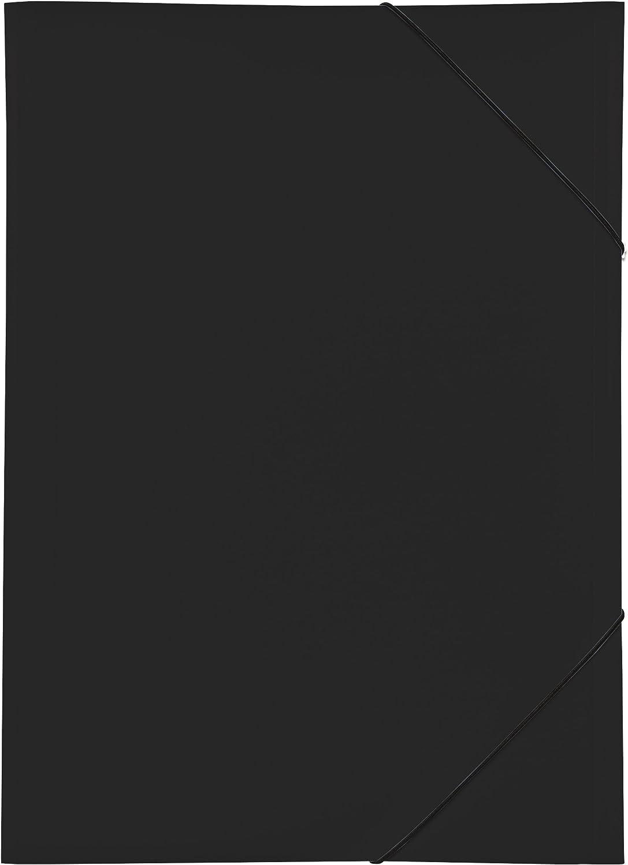 /Black Pagna 21638/Double Elasticated Folder A3/Polypropylene 3/Flaps/