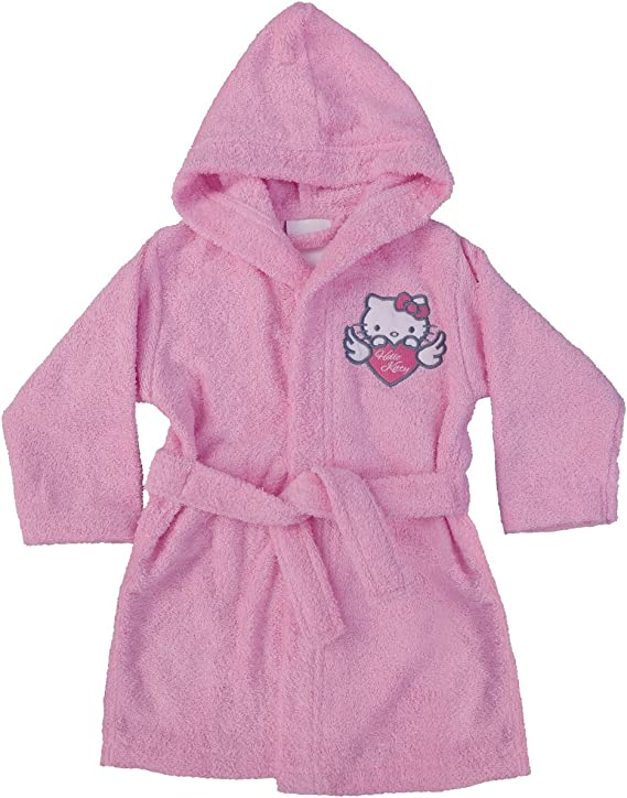 CTI 042729 Hello Kitty Wings - Albornoz (algodón), Color Rosa, 100 ...