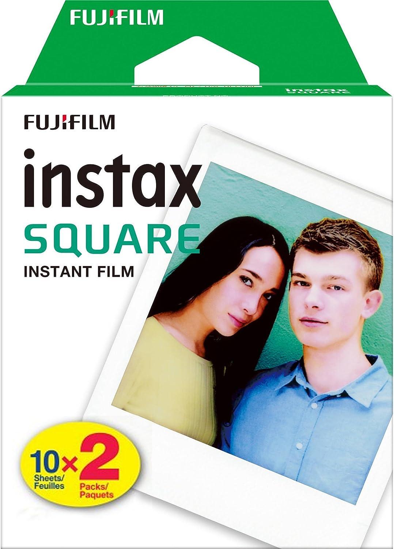 Fujifilm Fujifilm Instax Square Twin Pack Film - 20 Exposures Tapones para los oídos 5 Centimeters Negro (Black): FUJIFILM: Amazon.es: Equipaje
