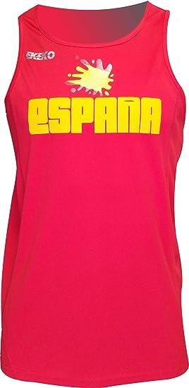 ESPAÑA Camiseta Tecnica EKEKO DE Tirantes para Hombre, Running, Atletismo y Deportes en General, Color Rojo (XXL, Rojo): Amazon.es: Deportes y aire libre