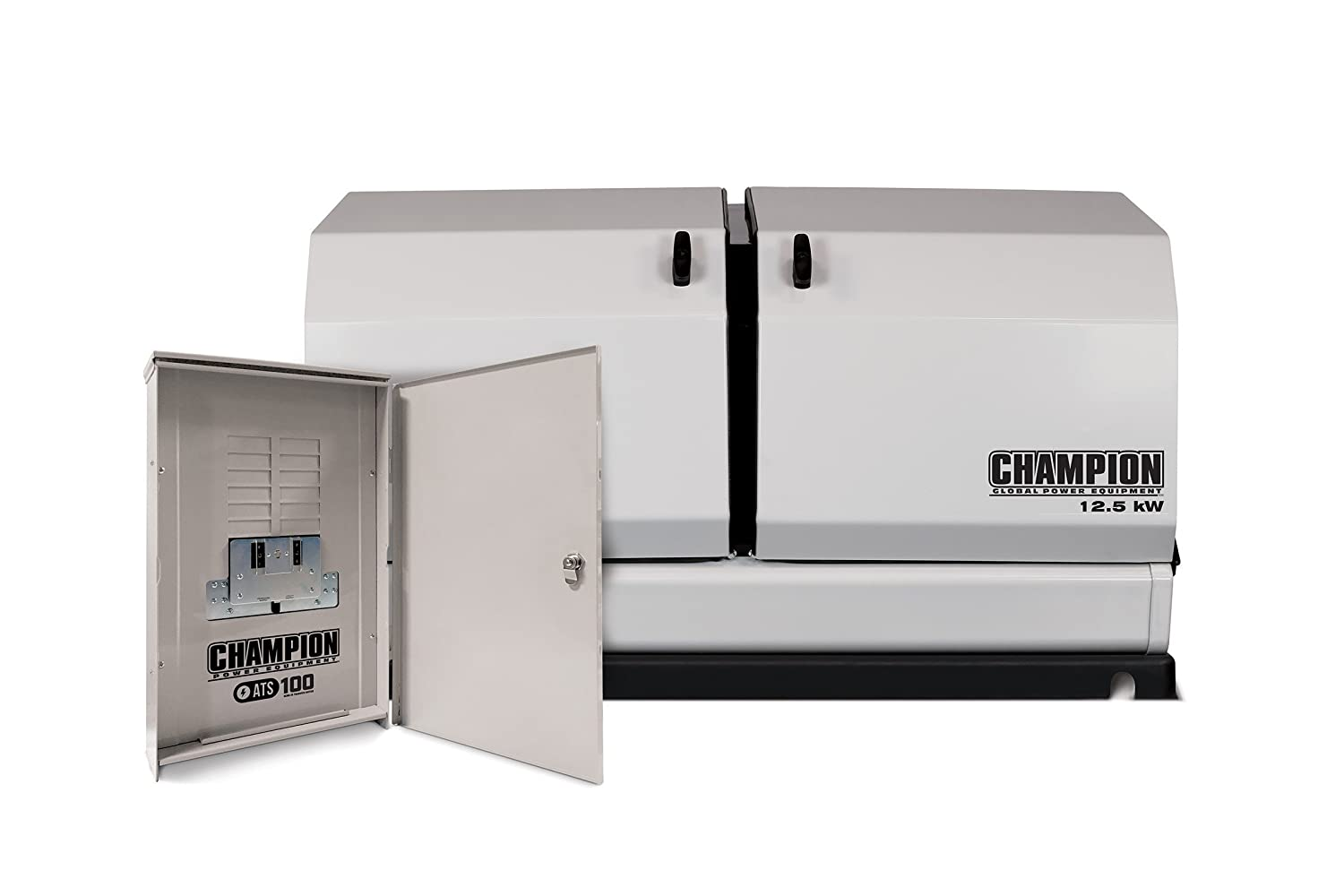 Champion 125 Kw Home Standby Generator With 100 Amp Wiring Diagram Whole House Automatic Outdoor Rated Transfer Switch Garden