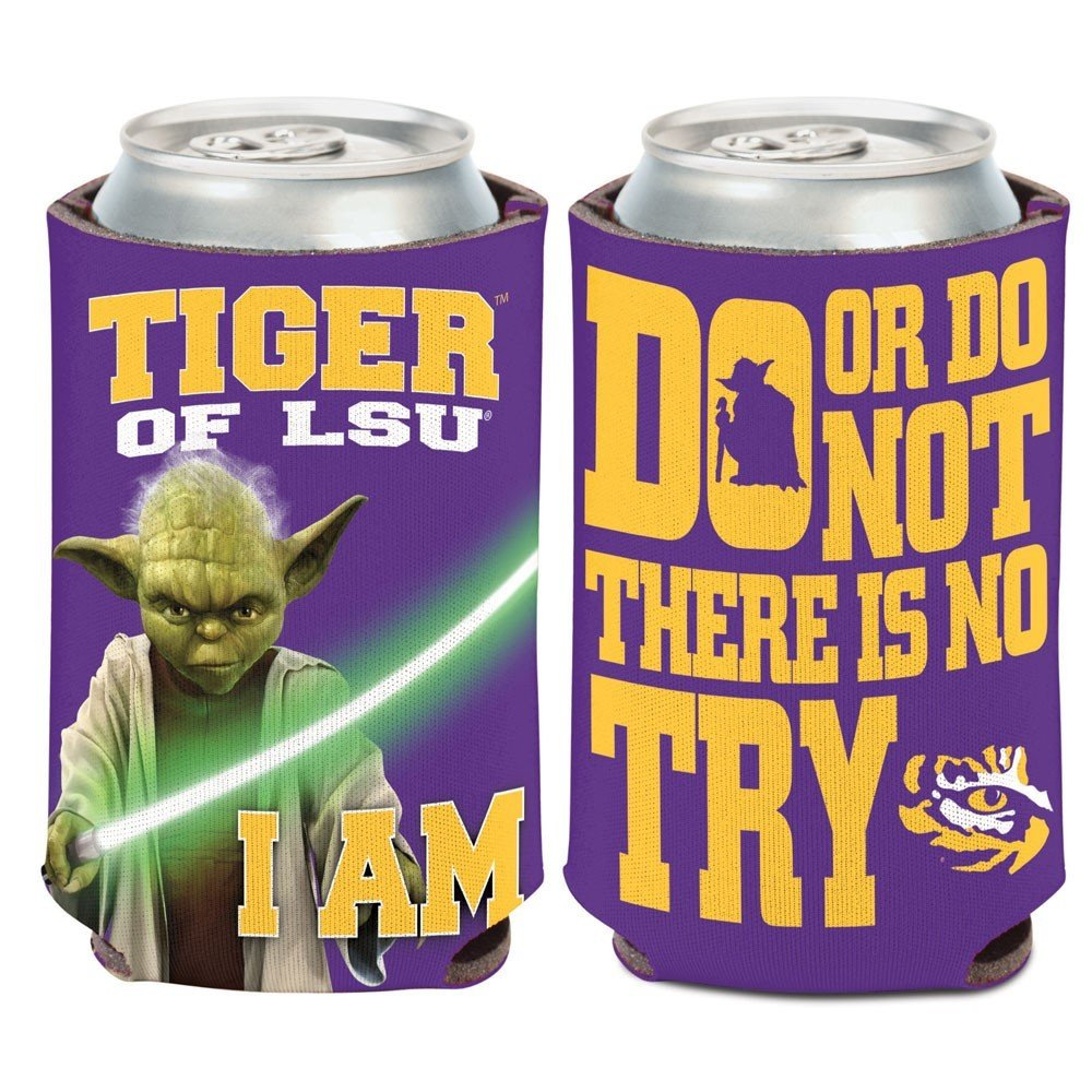 LSUタイガースNCAA Star Wars Yoda Insulated Coozie Can Cooler by Wincraft   B00KXESY74